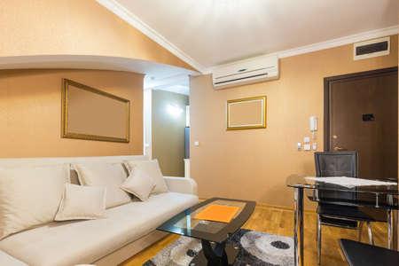 Photo pour Interior of a  loft apartment living room - image libre de droit