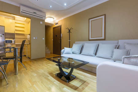 Photo for Interior of a  hotel apartment living room - Royalty Free Image