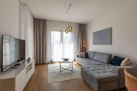 Photo pour Interior of a modern living room - image libre de droit