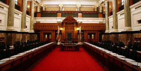Parliament room: Legislative Assebly of British Columbia in Canada