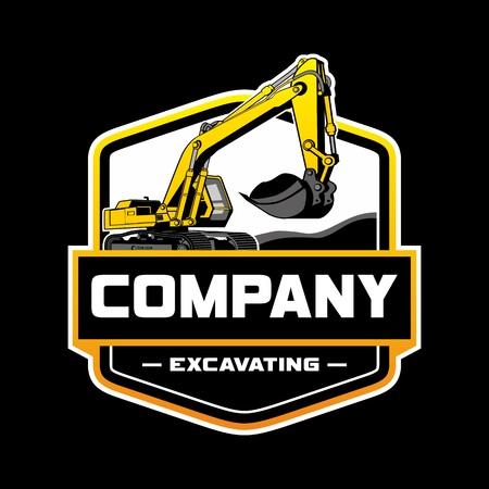 Photo for Excavator Logo Company - Royalty Free Image