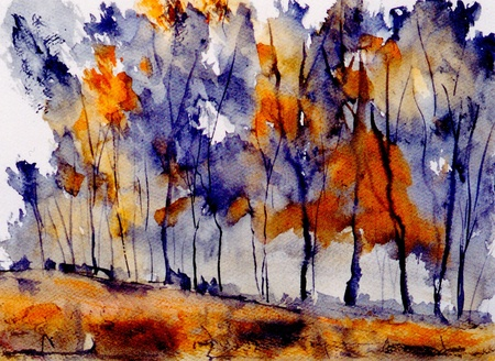 Photo for very nice original Watercolor painting on paper - Royalty Free Image