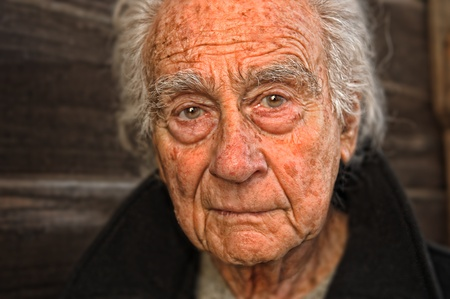 Very nice emotional portrait of a elderly man