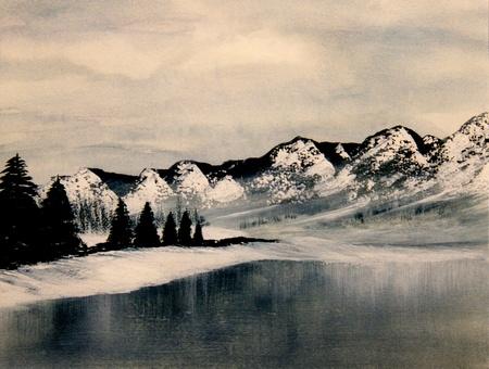 Beautiful Image of a Original Landscape Oil On Canvas