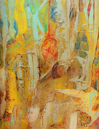 Nice Image of an original Abstract Oil painting on canvas