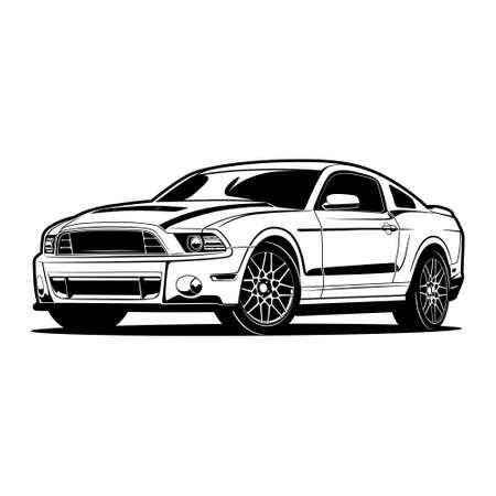 Illustration pour Car vector illustration for conceptual design. - image libre de droit