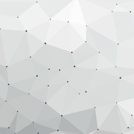 Illustration pour Neutral grey vector polygon mosaic background with white dots. Vector illustration for your graphic design. - image libre de droit