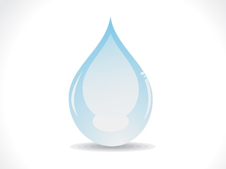 abstract glossy water drop vector illustration