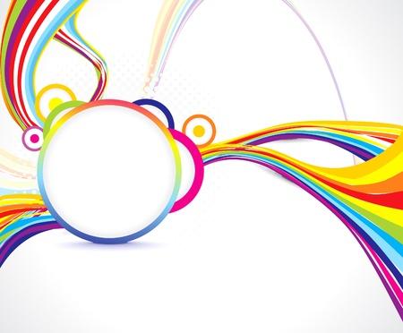 Illustration pour abstract colorful wave background illustration  - image libre de droit