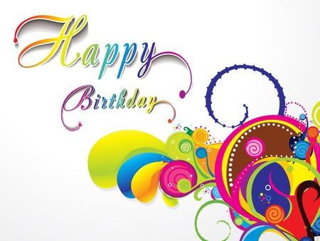 abstract birthday card vector illustration