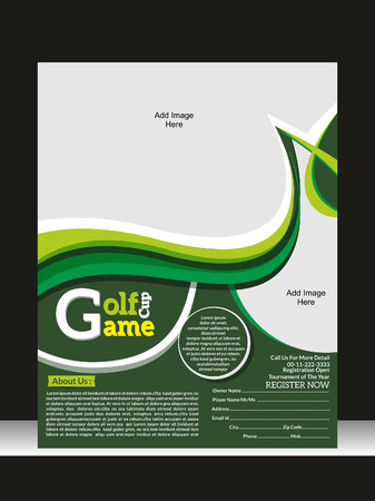 Golf Game Flyer Template Vector illustration