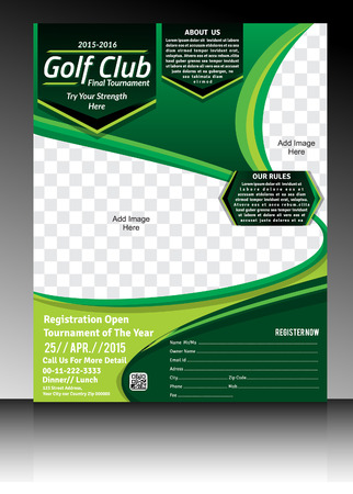 golf flyer template illustration