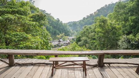 Mountain viewpoint at mae kampong village,chiang mai province ,thailand