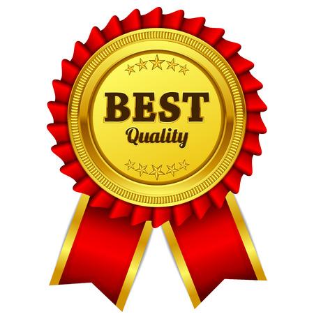 Illustration pour Best Quality Red Seal, Label Icon - image libre de droit