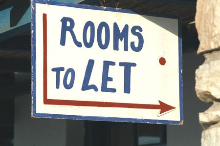 rooms to let sign in the greek islands