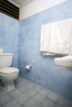 bathroom in native hotel columbus park, santo domingo, dominican republic
