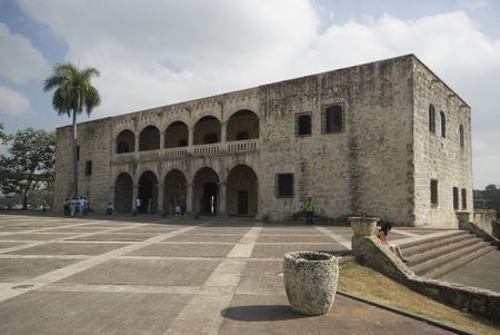 plaza de la hispanidad and the alcazar de colon columbus museum santo domingo dominican republic