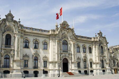 presidential palace lima peru on plaza de armas palacio gobierno