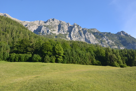 Ramsau, Germany - June 8, 2017 - Beautiful scene in Austrian Alps