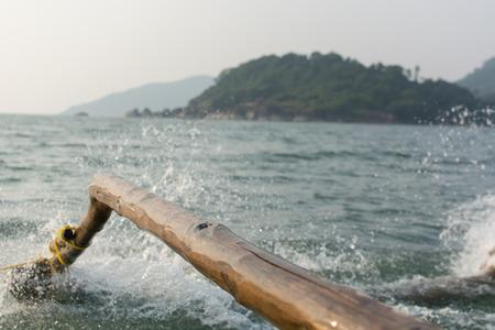 Goa, India - July 8, 2018 - Tourists on boats near the beach of Palolem - Goa