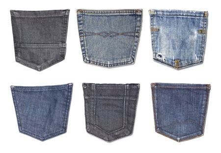 Isolated jeans pockets