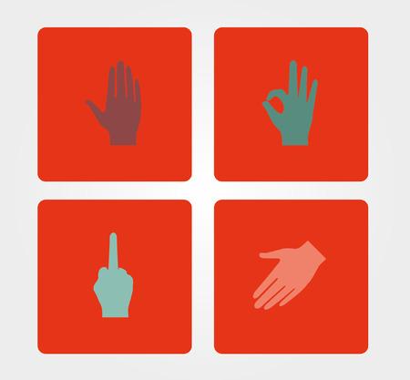 Simple icons: human hand