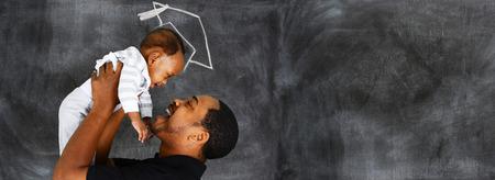 Foto de Happy young father who is with his son at graduation - Imagen libre de derechos
