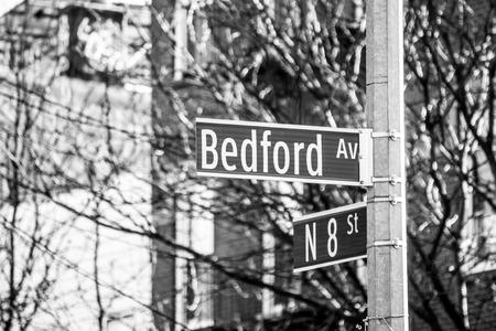 Photo pour Street sign in Williamsburg (NYC) - image libre de droit