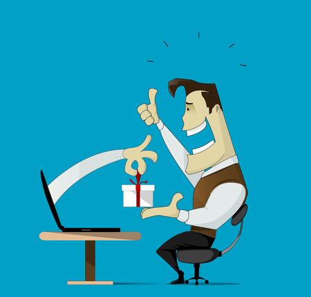 Illustration pour Smiling customer - image libre de droit