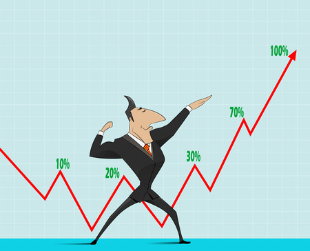 Picture showing professional growth, rising personal effectiveness, financial growth.
