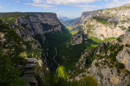 Vikos gorge in Zagoria , Greece