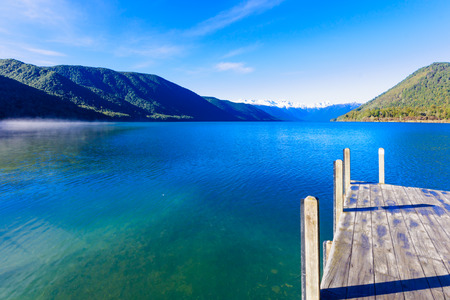 Morning view in Nelson Lakes National Park New Zealand