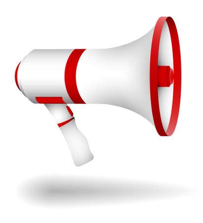 Illustration pour megaphone, cinema director loudspeaker. Speeches of speaker at rallies, strikes and meetings. Color cartoon vector - image libre de droit