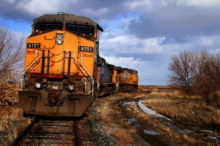 Locomotives sitting on a siding in Bliss, Idaho