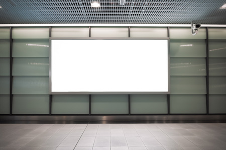 Photo pour Large blank billboard on a street wall, banners with room to add your own text - image libre de droit