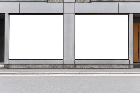 Photo pour Store Front with Big billboard Place - image libre de droit