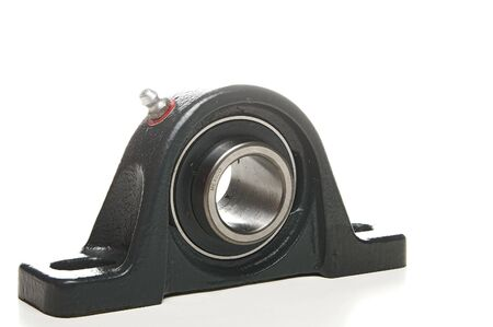 Photo pour A standard mechanical bearing used in various types of machinery. - image libre de droit