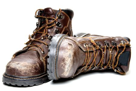Photo for A pair of well worn Work Boots. - Royalty Free Image