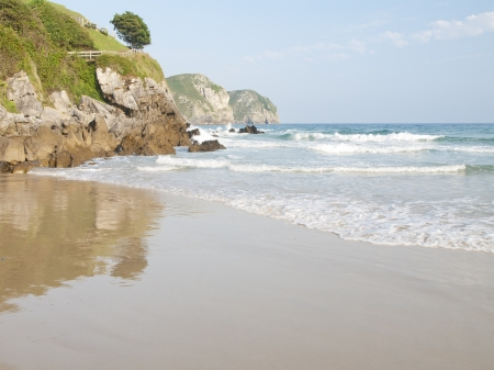 Playa de Vidiago en Llanes, Asturias, España