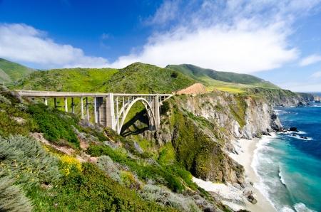 Bixby Bridge, the most photographed bridge along the Pacific Coast