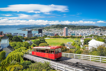 Photo for Wellington Cable Car, the landmark of New Zealand. - Royalty Free Image