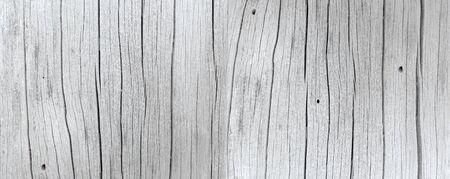 Photo pour Light gray wood background panorama - image libre de droit