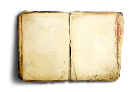 Photo pour Old book isolated on white background - image libre de droit