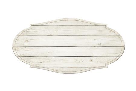 Foto de Wooden sign isolated over white background - Imagen libre de derechos