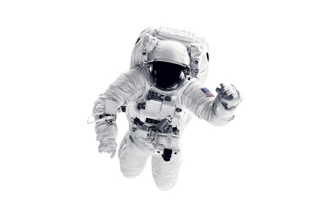 Photo for Astronaut in space suit over white background. - Royalty Free Image