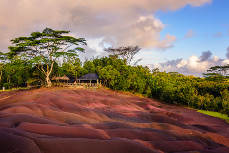 Photo for Chamarel seven coloured earths.Natural park,the most famous tourist place of Mauritius island. - Royalty Free Image