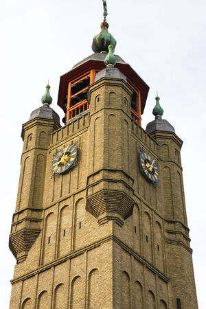 Belfry of Bergues in the department of  Le Nord  in France