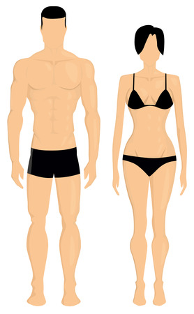Man and woman body illustration