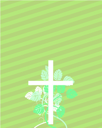 Easter cross with floral elements
