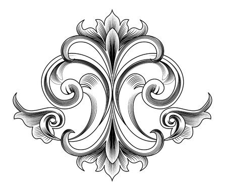 Illustration pour Victorian Style Vector Decoration - Engraving - image libre de droit